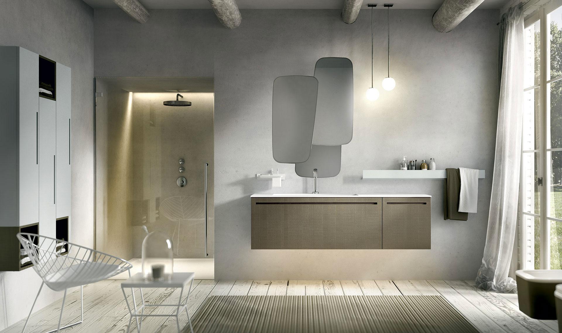 Mobili bagno particolari finest specchi per bagni moderni for Mobili particolari per bagno
